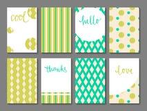 Reeks voor het drukken geschikte journaling kaarten Royalty-vrije Stock Fotografie