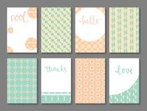Reeks voor het drukken geschikte kaarten Stock Afbeeldingen
