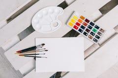 Reeks voor het schilderen Stock Afbeeldingen