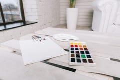 Reeks voor het schilderen Stock Foto's