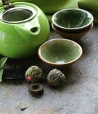 Reeks voor het traditionele thee drinken stock afbeeldingen