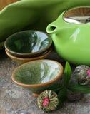 Reeks voor het traditionele thee drinken royalty-vrije stock fotografie