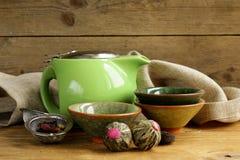 Reeks voor het traditionele thee drinken royalty-vrije stock foto's