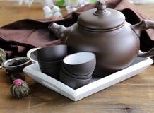 Reeks voor het traditionele thee drinken stock foto
