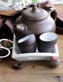 Reeks voor het traditionele thee drinken royalty-vrije stock afbeeldingen