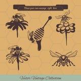Reeks voor honing reclame Royalty-vrije Stock Afbeeldingen