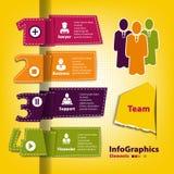 Reeks voor infographics in de stijl van origami Royalty-vrije Stock Afbeelding