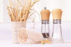 Reeks voor kruiden en droog gras Stock Foto's