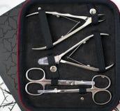 Reeks voor manicure en pedicure Royalty-vrije Stock Foto