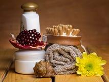 Reeks voor massage of lichaamsverzorging Stock Afbeelding