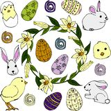 Reeks voor Pasen vector illustratie
