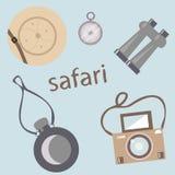 Reeks voor safari op een grijze achtergrond vector illustratie