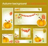 Reeks voor Standaard de herfstbanner van het Grootteweb Stock Foto