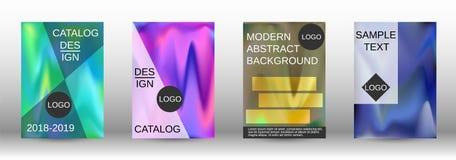 Reeks voor vloeistof Holografische abstracte achtergronden vector illustratie