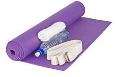Het materiaal van de yoga Stock Foto