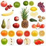 Reeks vruchten stock afbeeldingen
