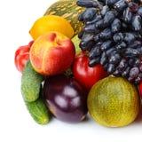 Reeks vruchten en groenten Royalty-vrije Stock Afbeeldingen