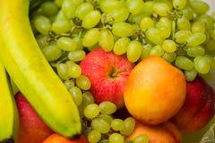 Reeks vruchten in gezond concept Royalty-vrije Stock Afbeeldingen