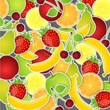 Reeks vruchten. Vector illustratie. Stock Afbeeldingen