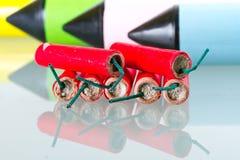 Reeks vuurwerk Royalty-vrije Stock Fotografie