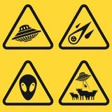Reeks waarschuwingsplaten Stock Afbeelding