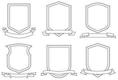 Reeks Wapenschilden (Vector) Royalty-vrije Stock Afbeeldingen