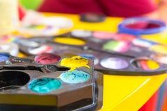 Reeks water-kleuren Royalty-vrije Stock Foto's