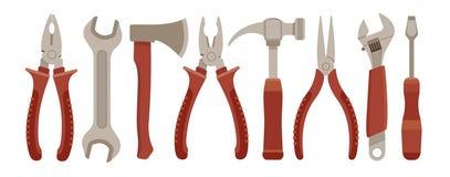 Reeks werkende hulpmiddelen Stock Afbeelding