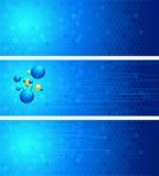 Reeks wetenschapsachtergronden Vector Illustratie