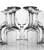 Reeks wijnglazen Royalty-vrije Stock Afbeeldingen