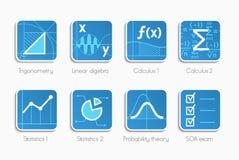 Reeks wiskundepictogrammen Royalty-vrije Stock Afbeeldingen