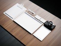 Reeks witte klassieke bedrijfselementen 3d Stock Fotografie