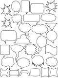 Reeks witte stickers Stock Fotografie
