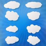 Reeks wolken grunge Royalty-vrije Stock Afbeeldingen