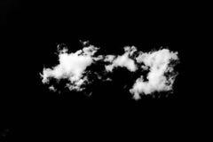 Reeks wolken over zwarte achtergrond De elementen van het ontwerp Witte geïsoleerde wolken Knipsel gehaalde wolken Stock Afbeeldingen