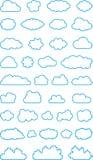 Reeks wolkenvormen Royalty-vrije Stock Afbeelding
