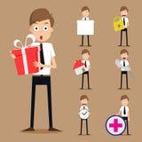 Reeks zakenmankarakters Stock Afbeelding