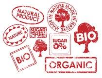 Reeks zegels voor organisch vector illustratie