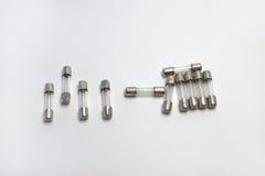 Reeks zekeringen voor het solderen in de elektronische kring Royalty-vrije Stock Foto