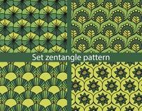 Reeks zentangle patroon Stock Foto