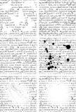 Reeks zes tekst Stock Afbeeldingen