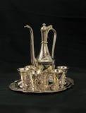Reeks zilveren wijnglazen Royalty-vrije Stock Afbeelding