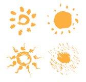 Reeks zonnen Royalty-vrije Stock Afbeeldingen