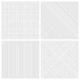 Reeks zwart-wit broedsel naadloze patronen Stock Foto's