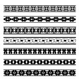 Reeks zwart-witte geometrische elementenlijnen Royalty-vrije Stock Foto
