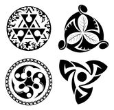 Reeks zwarte ontwerpelementen - logotypes - eps Royalty-vrije Stock Fotografie