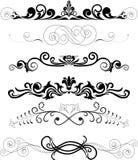 Reeks zwarte ornamenten Royalty-vrije Stock Foto