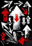Reeks zwarte pijlen Stock Afbeelding