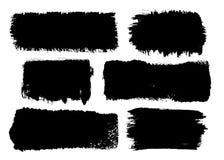 Reeks zwarte slagen van de inktborstel Royalty-vrije Stock Afbeelding