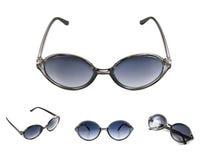 Reeks zwarte zonnebril Royalty-vrije Stock Foto